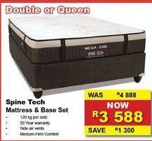 Spine Tech Mattress & Base Set offers at R 3588