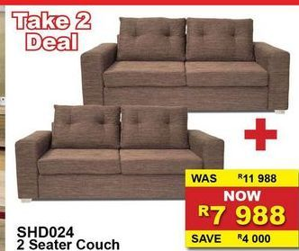 2 Seater couch offers at R 7988