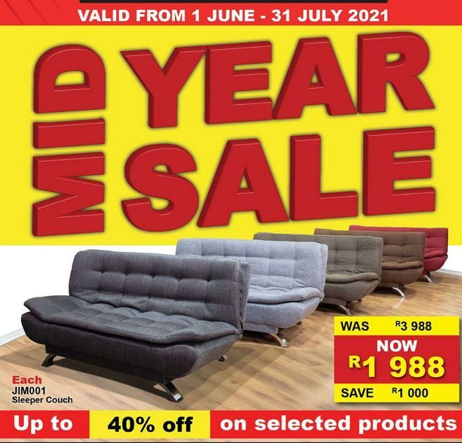 Sleeper couch offers at R 1988