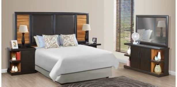 Polo 3 Piece Bedroom Suite, Two Tone Brown offers at R 6499