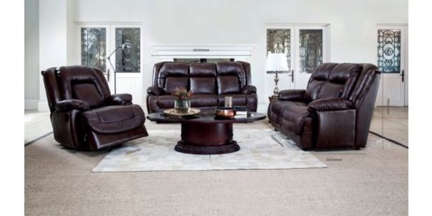 Newbury 3 Piece 3 Motion Lounge Suite, Brown offers at R 34999,95