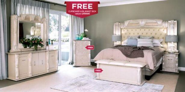 Titania 5 Piece Bedroom Suite, Beige offers at R 17999,95