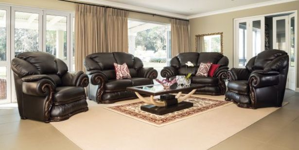 Europe 4 Piece Lounge Suite, Brown offers at R 24999,95