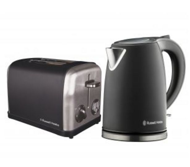 Russell Hobbs 2 Piece Breakfast Pack, Black offers at R 1199,95