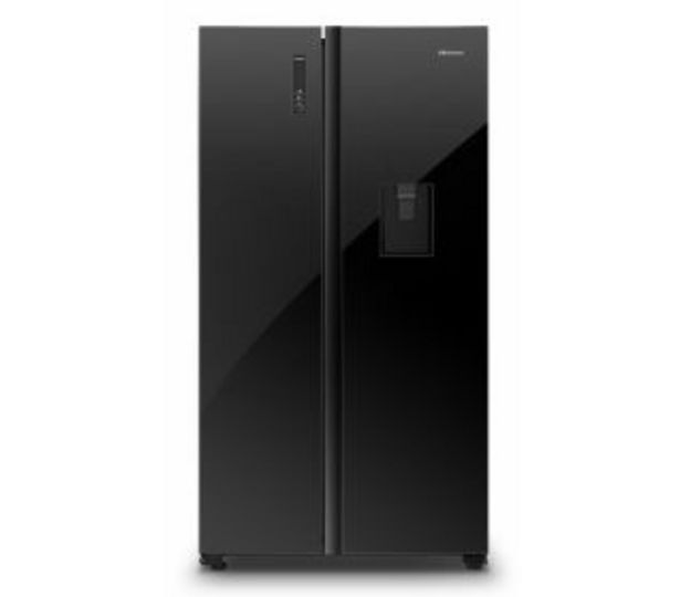Hisense 514l Side By Side Water Dispenser Fridge Black Glass, H670SMIA-WD offers at R 14999,95