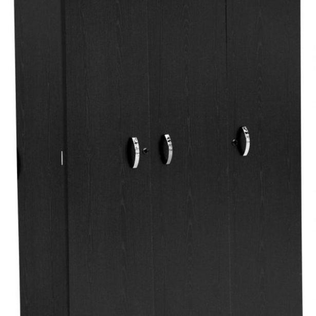 Nova 120cm 3 Door Robe – Black Oak finish offers at R 1999