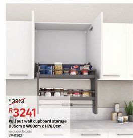 Pull out wall cupboard storage offers at R 3241