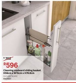 Cleaning cupboard sliding basket offers at R 596