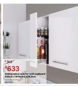 Sliding spice rack for wall cupboard offers at R 633