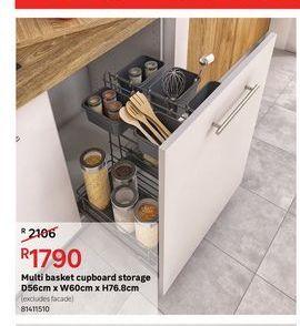 Multi basket cupboard storage offers at R 1790