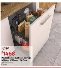 Double basket cupboard storage offers at R 1468
