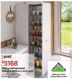 Pantry sliding basket offers at R 5168