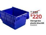 Storage box plastic blue 68L offers at R 220