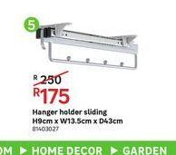 Hanger holder sliding  offers at R 175