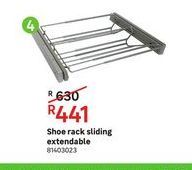 Shoe rack sliding extendable offers at R 441