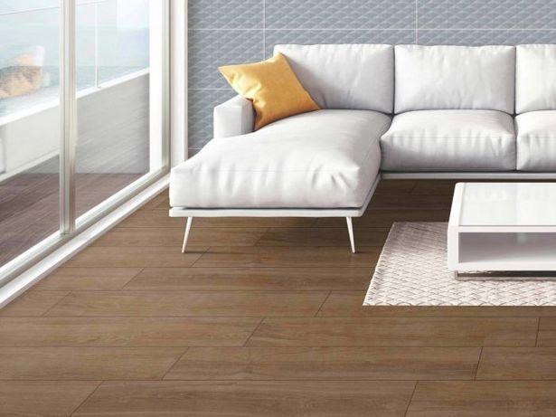 Honeywood Walnut Rectified Matt Porcelain Floor Tile - 1195 x 195mm offers at R 249,9