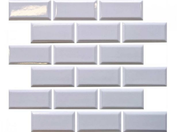 White Subway Porcelain Shiny Mosaic - 288 x 294mm offers at R 64,9