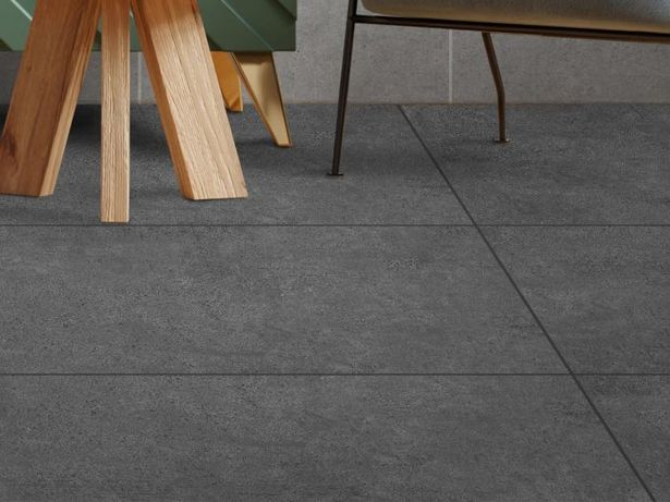 Mastery Charcoal Black EcoTec Matt Glazed Porcelain Floor Tile - 1200 x 600mm offers at R 219,9