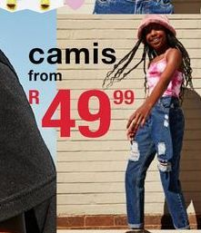 Camis offers at R 49,99