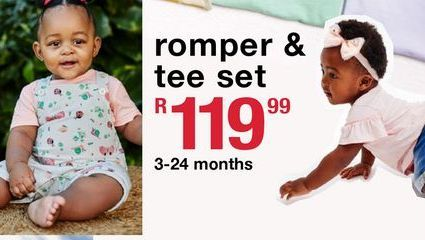Romper & tee set offers at R 119,99