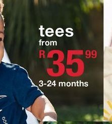 Tees offers at R 35,99