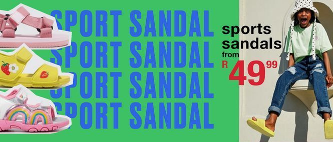 Sport sandals offers at R 49,99