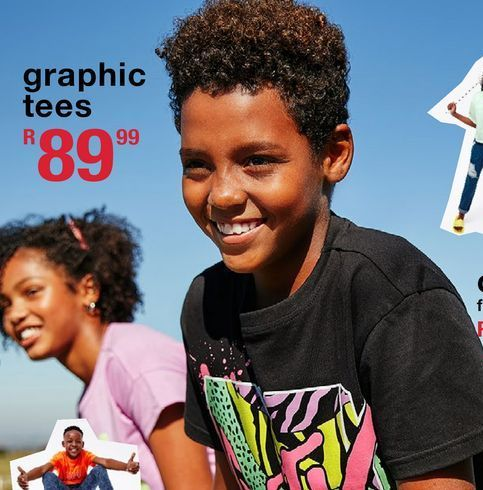 Gra`hic tees offers at R 89,99