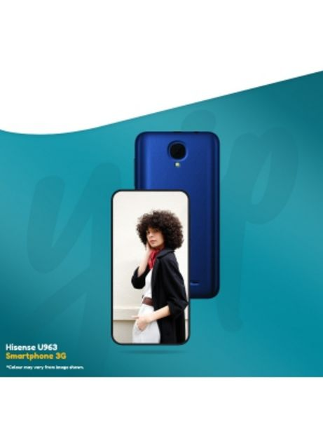 """HISENSE U963 5""""3G SMART PHONE EXCL. S/PACK VODACOM offers at R 699"""