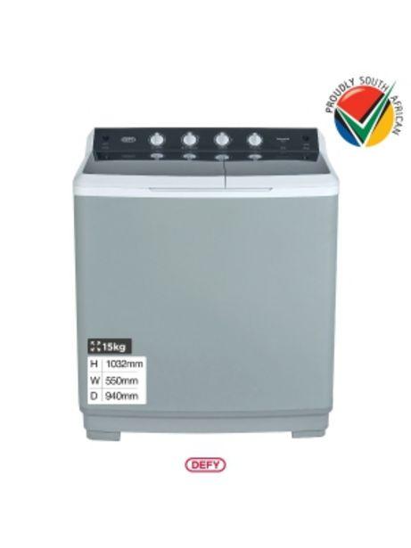 Defy 15kg Metallic Twin Tub Washing Machine Dtt151 offers at R 3599