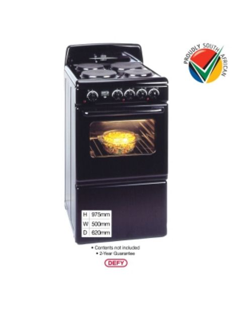Defy 4 Plate Compact Cable Stove Black Dss514 offers at R 2999