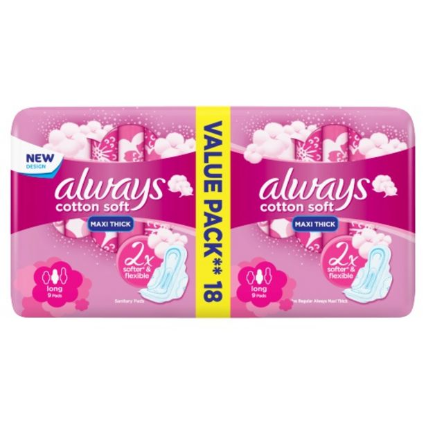 Always Maxi Soft Long 18 Pack offers at R 35,99