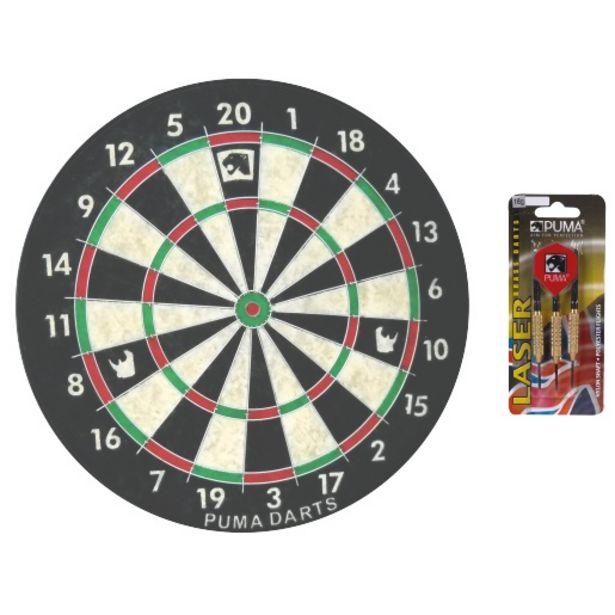 Puma Rhino Dartboard With 18g Laser Darts Set offers at R 229
