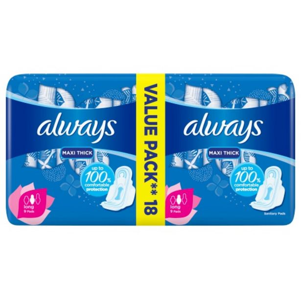 Always Pads Maxi Super Plus Duo 18 Pack offers at R 35,99