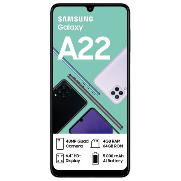 Samsung Galaxy A22 Violet offers at R 3799