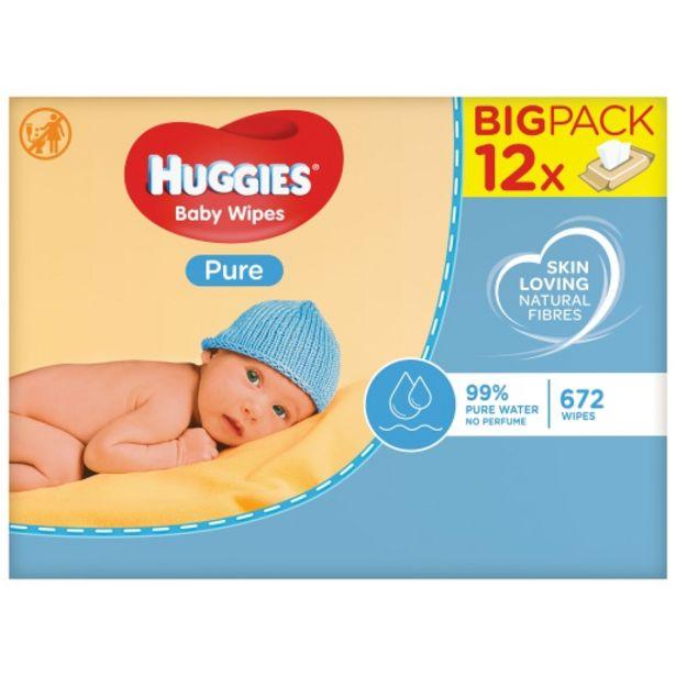 Huggies Huggies 12pk Pure Wipes 256 offers at R 240