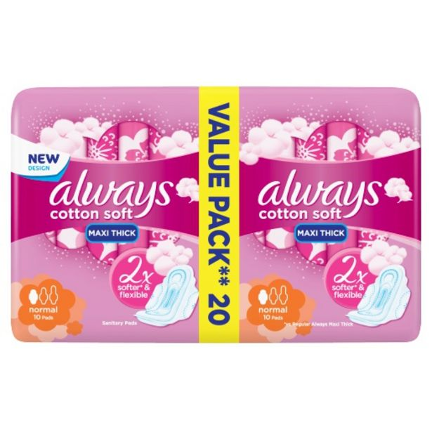 Always Maxi Soft Normal 20 Pack offers at R 35,99