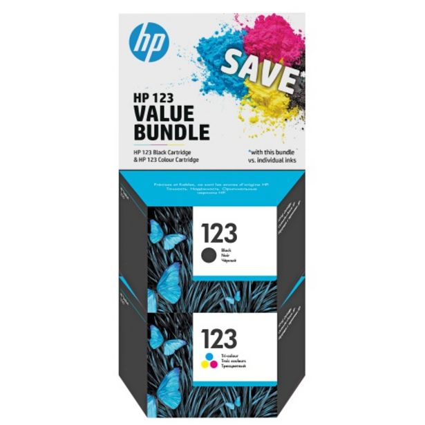HP 123 Black/Tri-Colour Ink Value Pack F6V17AE+F6V16AE offers at R 599