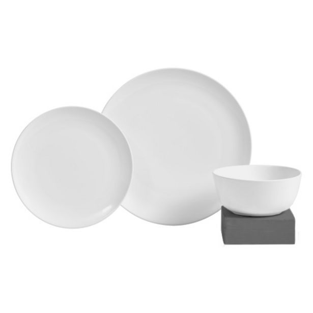 Always Home 12 Pce Stoneware Glazed White offers at R 199