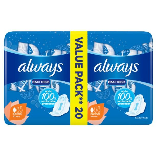 Always Pads Maxi Plus Duo 20 Pack offers at R 35,99