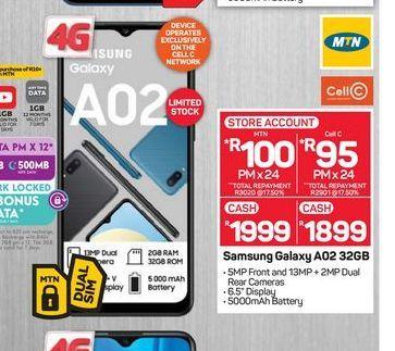 Samsung Galaxy A02  offers at R 1899