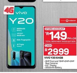 VIVO Y20 smartphone offers at R 2999
