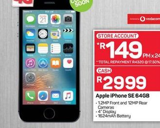 Apple iPhone SE offers at R 2999
