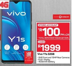 Vivo Y1s Smartphone offers at R 1999