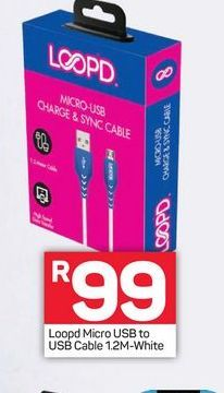 Loopd Micro USB offers at R 99