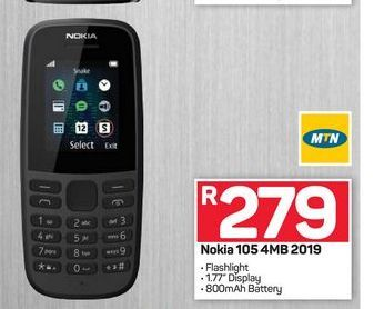 Nokia 105 phone offers at R 279