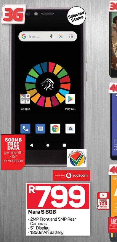 Mara S smartphone offers at R 799