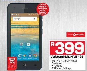 Vodacom Kicka 4VE offers at R 399