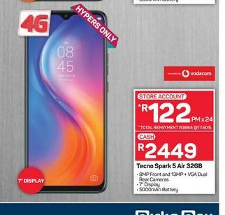 Tecno Spark smartphones offers at R 2449