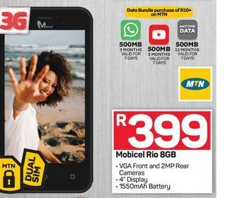 Mobicel RIO  offers at R 399