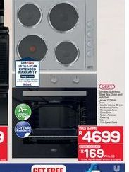Defy 4 Plate Stove offers at R 4699